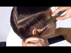 Асимметричная мужская стрижка с длинной и гладкой челкой - YouTube