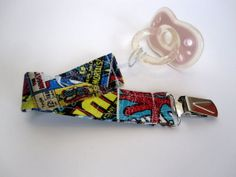 Pacifier Clip  Marvel Comic Books by heatheraileen on Etsy, $6.00