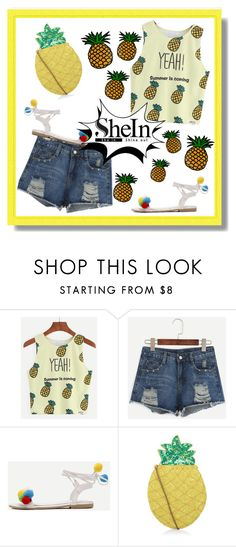 """""""Pineapple"""" by aminkicakloko ❤ liked on Polyvore featuring New Look"""