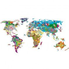 Sticker Mapa mundo Multicolor  MIMI'lou