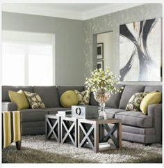 HGTV Home Custom Upholstery XL L-Shaped Sectional by Bassett Furniture - Modern - Living Room - raleigh - by Bassett Furniture Living Room Green, New Living Room, Home And Living, Living Room Decor, Living Spaces, Dining Room, Modern Living, Small Living, Cozy Living