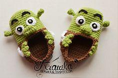 Ravelry: Shrek Baby Booties pattern by Kamila Krawka Krawczyk