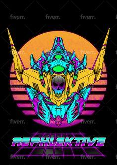 Draw a custom gundam head illustrations in detail by Atrians Flat Illustration, Illustrations, Vector Design, Logo Design, Gundam Head, Custom Gundam, T Rex, Sacred Geometry, Cover Design