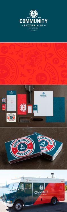 identity / community pizzeria | #stationary #corporate #design #corporatedesign #identity #branding #marketing < repinned by www.BlickeDeeler.de | Take a look at www.LogoGestaltung-Hamburg.de