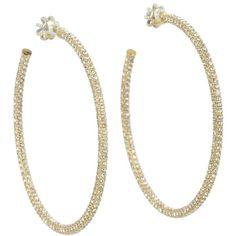 Juicy Couture Elegant Essentials - Large Pave Hoop Earrings ($71) ❤ liked on Polyvore Rhinestone Earrings, Gold Earrings, I Love Jewelry, Jewelry Box, Juicy Couture Jewelry, Glitz And Glam, Crystal Jewelry, Or Rose, Earring Set