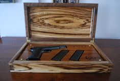 Pistol presentation case. Rare flatsawn by WoodenSignsnDesigns