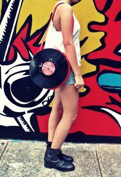 Vinyl record bag