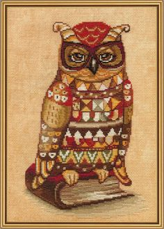 Counted Cross Stitch Kits, Wise owl and owl family, embroidery kit owl, Needlepoint kits, embroidered birds by hobbyshopclub on Etsy