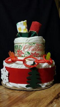 Christmas diaper cake for baby
