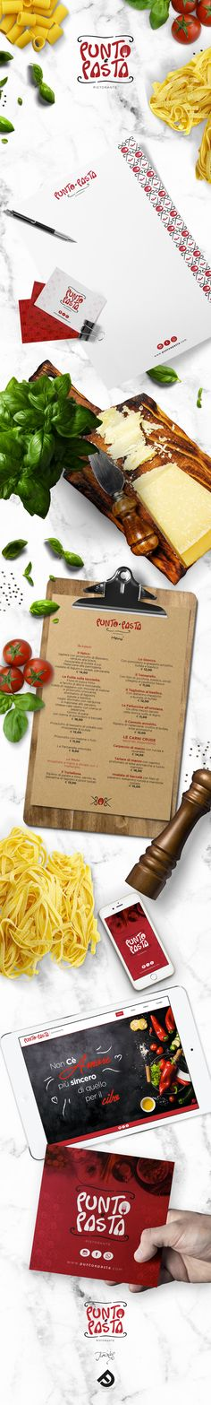 """Vedi il mio progetto @Behance: """"Punto&Pasta - Ristorante"""" https://www.behance.net/gallery/52741631/Punto-Pasta-Ristorante"""