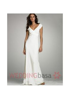 Image from http://s.weddingbasa.com/images/view/201407/2015-new-arrival-chiffon-custom-made-hot-sale-beach-wedding-dresses-capped-sleeves-v-neck-floor-length-simple-charming-column-cheap-soft-chiffon-bridal-gowns14067889361.jpg.