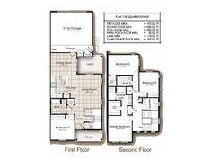 Navy Region Hawaii – Catlin Park Neighborhood: 4 bedroom home floor plan (other floor plans available).