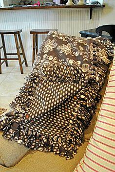 loop - not tie!  That Village House: No-sew fleece blankets