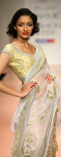Bhairavi Jaikishan Saree at Lakme Fashion Week - original pin by @webjournal