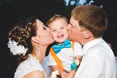 #bride #groom #pose #photography #wedding #orange #turquoise #rustic #county #fall #ringbearer #reception #HughesMarseeWedding13