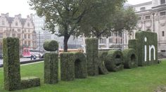 Linked in Logo made with Evergreen Directs Artificial Boxwood hedging for their conference in Westminster, London Artificial Hedges, Artificial Topiary, Boxwood Hedge, Boxwood Topiary, Corporate Event Design, Corporate Branding, Event Ideas, Event Decor, Conference Branding