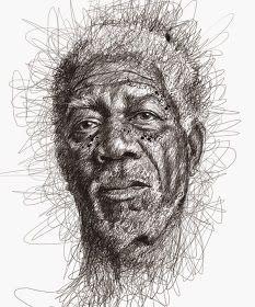 Por el Amor del Art-E: El arte del garabato Face Sketch, Drawing Sketches, Art Drawings, Pencil Drawings, Figure Drawings, Drawing Style, Drawing Faces, Portrait Au Crayon, Pencil Portrait