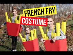 DIY French Fries Costume!! - YouTube