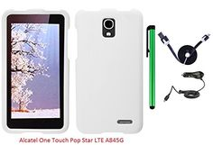 Buy Alcatel One Touch Pop Star LTE A845G (Straight Talk) Phone Case - Premium Pretty Design Protector Hard Snap-On Cover Case + Car Charger + 1 of 1M/3Feet Stylish Micro USB To USB 2.0 Data Sync Charger Flat Cable + 1 of New Metal Stylus Touch Screen Pen (WHI for 11.9 USD | Reusell
