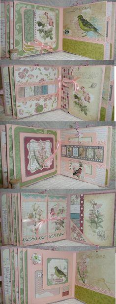 "The Homemade Haven loves this Mini album ""garden journal"" Bo Bunny. Scrapbooking ideas and inspiration. Mini Albums, Mini Photo Albums, Album Photo, Mini Album Scrapbook, Scrapbook Journal, Scrapbook Paper, Graphic 45, Baby Mini Album, Etiquette Vintage"