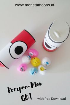 Pompon pokemon game. A lot of fun! rollcrafts, papercrafts,pokemon diy