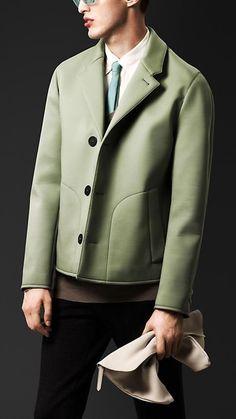 Burberry Prorsum S/S14 Bonded Poplin Caban Jacket