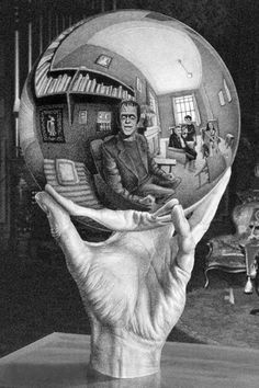 Herman Munster meets M.C. Escher