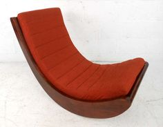 View this item and discover similar for sale at - This unique floor rocker features the progressive mid-century style of Danish designer Verner Panton, originally released in 1974 for Rosenthal Studioline, Unique Flooring, Relaxer, Mid Century Style, Chairs For Sale, Modern Chairs, Rocking Chair, Floor Chair, Pantone, Venice