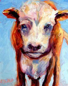 """Moo 2"" - Original Fine Art for Sale - © Kristen Dukat"