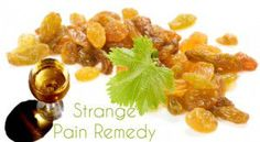 gin soaked raisins for arthritis pain. my grandmother did this back in the day! juniper berries have anti-inflammatory properties and golden raisins have pain relieving properties! wowsa!