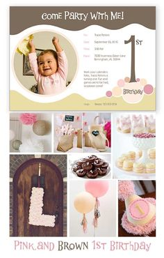 "Girl's First Birthday Party Inspiration. I like the idea of a big letter ""A"" on the front door that can later be hung either on her door or in her room. :)"