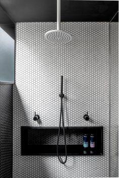 Studio Benicio's Avalon Beach Apartment. Photo by Mitch Fong. #Interior #bathroom #design #architecture #minimal