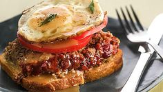 """Bourbon-and-coke meatloaf sandwich: """"Inspiration came from a glass of bourbon and Coke he drank, Chef Edward Lee writes, while trying to come up with a meatloaf recipe he liked."""" From """"Primal Flavors"""" the Father's Day food story in the Chicago Tribune."""