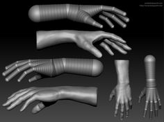 Hand Study, Amit Kolay on ArtStation at… Zbrush Tutorial, 3d Tutorial, Zbrush Character, Character Modeling, Sketching Tips, Drawing Tips, Zbrush Anatomy, Modeling Tips, Hand Modeling