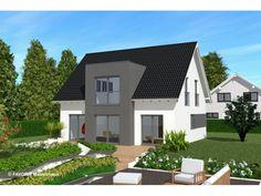 Noblesse 128 - #Einfamilienhaus von Bau Braune Inh. Sven Lehner | HausXXL #Massivhaus #Energiesparhaus #Nullenergiehaus #modern #Satteldach