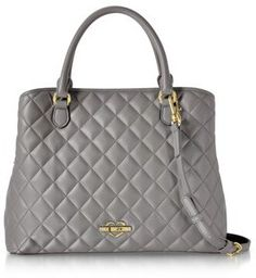 d482a91a2667 Love Moschino Love Moschino Women's Grey Faux Leather Handbag | Bluefly.Com
