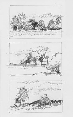 Landscape Sketches by Charlie Brown, via Behance #LandscapeSketch