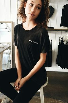 Brandy ♥ Melville | Ieva Rock 'n Roll Top - Graphics