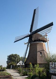 Polder mill De Rietvink, Nijetrijne, The Netherlands