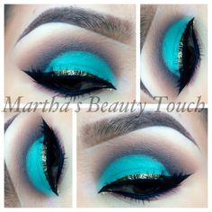 Wow!! cut crease, blue, gold