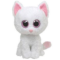 Rare Beanie Boos | TY Beanie Boos - CASHMERE the White Cat (Medium - 9 inch) Rare!