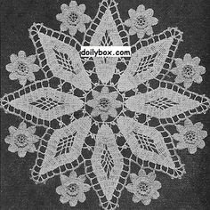 Free Crochet Patterns Diamond doily Pattern