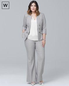 Plus Linen-Blend Blazer Jacket - White House Black Market Work Fashion, Curvy Fashion, Plus Size Fashion, Plus Size Womens Clothing, Plus Size Outfits, Plus Size Business Attire, Suits For Women, Clothes For Women, Look Office