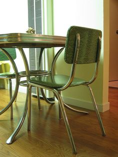 retro formica kitchen table chair