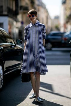 Quick tips to know for styling a shirt dress www.fashiondra.blogspot.com