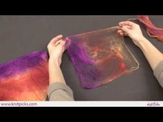 An other way to Use Silk Hankies, I use it while felting.