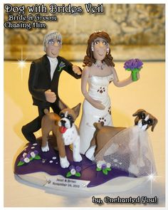 photo wedding cake toppers book and tea themed custom wedding cake topper with dogs 6499