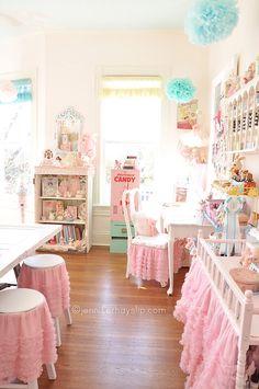 Jennifer Hayslip's Shabby Chic Craft Studio!