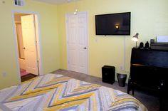 """Master bedroom with desk, wireless printer and 42"""" flat screen tv - Key West Top Floor Condo """"Seaside Breeze"""" -Monthly -  - rentals"""
