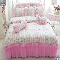 King Queen Single Shabby Princess Floral Chic Pink Duvet Quilt Cover Set A1807 | eBay